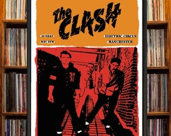 The Clash Concert Poster
