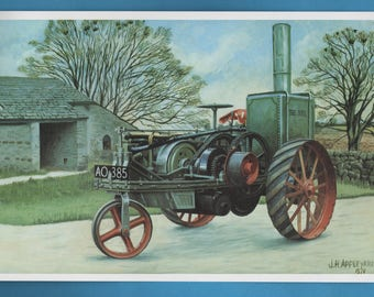 The Ivel Tractor Print, John Appleyard Artwork Book Plate Print