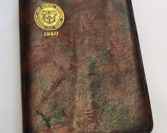 1940's transport union diary with photo pocket. made for Transport and general union workers a great keep sake.