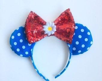 Daisy Polkadot Minnie Ears