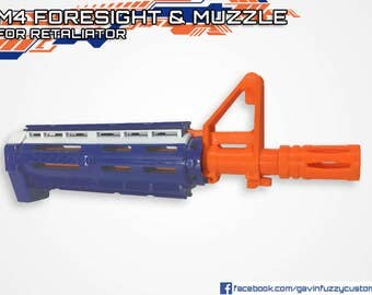 Nerf Retaliator M4 Foresight & Muzzle