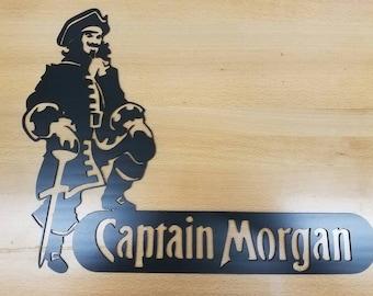 Captain Morgan metal wall art plasma cut decor