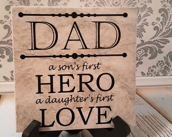 Dad Decorative Tile