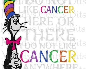 SVG and PNG Suess I Do Not Like Cancer