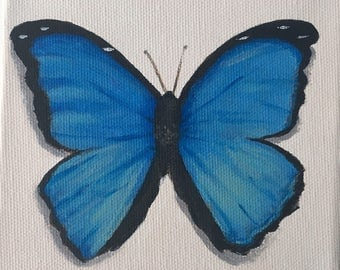 """Mini Butterfly Acrylic Painting 5x5"""""""