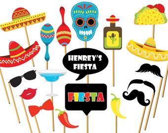 Custom Fiesta photo booth props, Mexican Fiesta, Mexico Photo booth, Mexican photo props, Cinco de mayo props, Selfie Photo Props ;100202