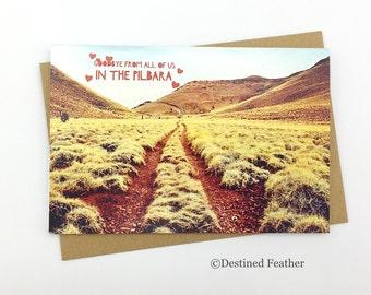 Goodbye Card, Pilbara, Photographic Greeting Card, Millstream Chichester Rangers