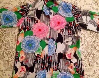 70s ultra Floral designer Oxford