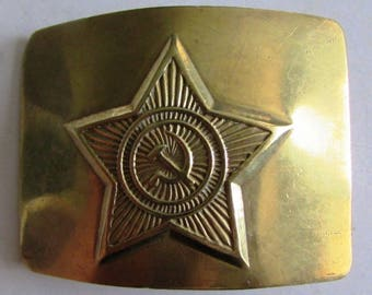 Rare Vintage Soviet/Russian Military Bronze Belt buckle