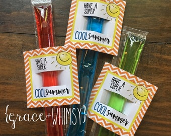 Have a super cool summer - frozen ice pop tag (printable)