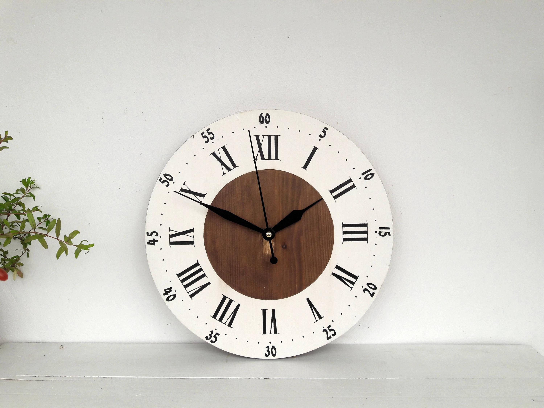 Wooden Clock Rustic Wall Clock 12 Home Decor Farmhouse