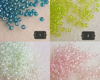 Toho Round 11/0 seed beads. 10g