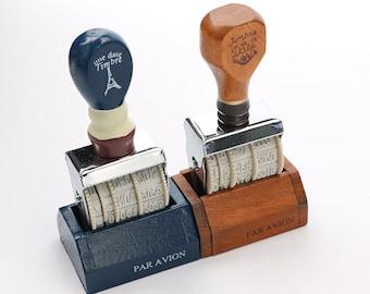 Vintage Date Stamp Wooden Stamp Retro Numbering Stamp