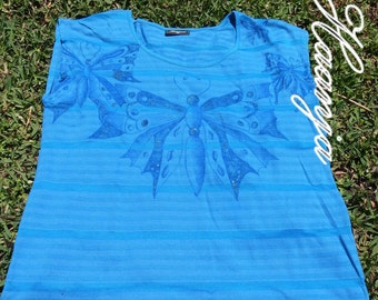 Hand painted butterfly T-Shirt