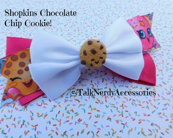 Shopkins Chocolate Chip Cookie Hair Bow
