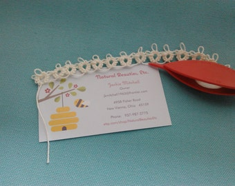 Hand-Tatted Lace Trim -- 43 inches -- Creamy White (beige) Cotton
