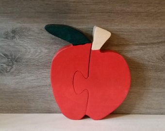 Toy puzzle Apple wooden