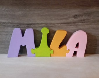 Wooden, Mila, personalized name.