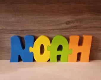 Letters door, Noah name wooden sign