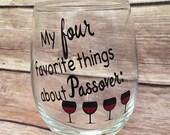 Passover Wine Glass