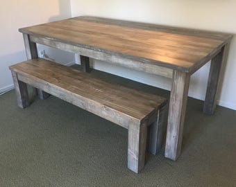 Parsons Table | Farmhouse Table | Custom Dining Table | Wood Table | Wood Furniture | Barnwood Table | Dining Table | FREE SHIPPING