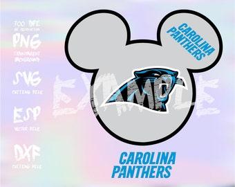 Mickey heads Sport logo football team Carolina Panthers ,clipart,SVG,PNG 300dpi ,ESP vector