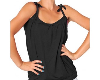 Comfortable New woman singlet, New Summer sleeveless tank top, Black beach hot top, Nice Trendy clothing, Casual shoulderless blouse