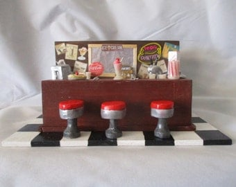 Vintage minature soda fountain