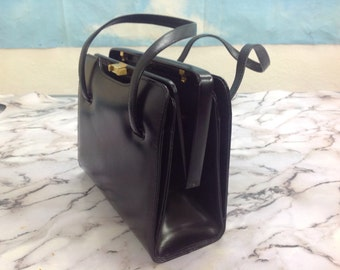50s leather Bag | Handbag years 50s | Vintage 50s leather handbag | Vintage Leather bag |