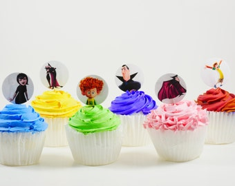 Hotel Transylvania cupcake topper double sided , Birthday cupcake picks, Mavis Dracula, Dennis, Dracula,Winnie , Party , Birthday