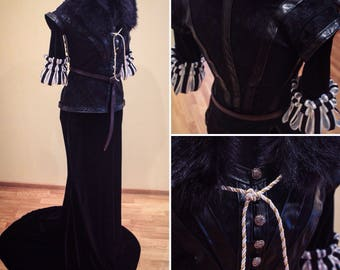 Yennefer cosplay costume from The Witcher 3: Wild Hunt, Yennefer of Vengerberg clothing, witch, Halloween costume