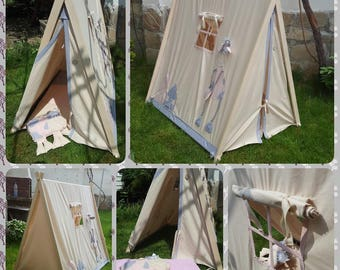 Children's tent  with carpet, foldable tent, tipi, teepee, a-frame teepee,play camping tent, camping tent, Tent cabin