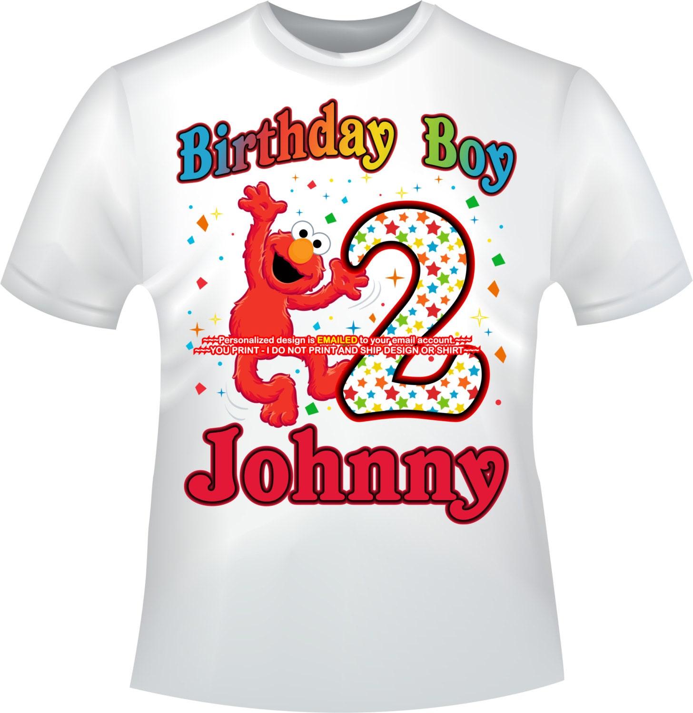 Elmo First Birthday Shirt Boy