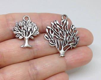 20pcs Tree of Life Charm, Tree of life Silver Charm, Family Tree Charm, Family Charm