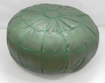 Hand made Egyptian poufe, %100 Genuine Leather,leather ottoman footstool