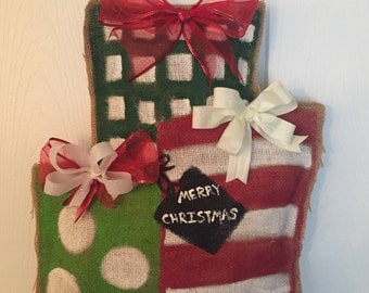 Christmas present door hanger