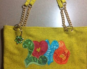Love Tote, Felted fabric