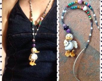 Collana in ceramica con ANATRA/ Clay pendant with: DUCK