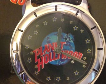 Vintage Planet Hollywood Wrist Watch With Case New Old Stock