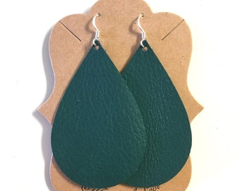SALE!! Teal Green Statement Earrings