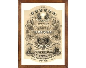 The Lord's Prayer, 1876; 24x36 inch print reproduced from a vintage  lithograph