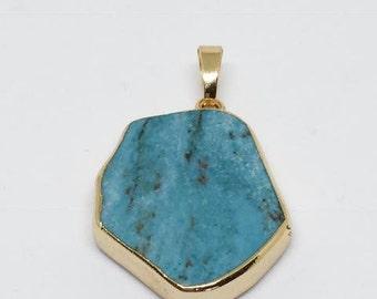Turquoise Slab Pendant