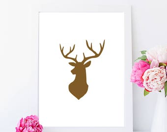 Stag Print (left)