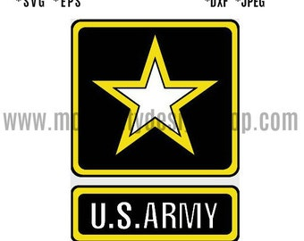 US ARMY SVG Eps Dxf Jpeg Format Vector Design Digital Download Cutting File Silhouette Studio Cameo Cricut Design Cutting Machine