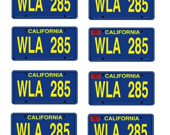 scale model California Kid car license tag plates