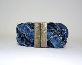 Bracelet braided in Jean Upcycled