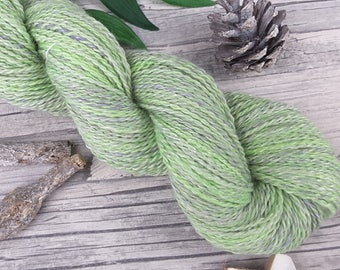 "Handspun Yarn - ""Spring Garden"" - bfl/baby alpaca/bamboo - hand dyed - 245yds/3,63oz - 2ply"