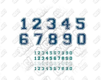 Sporty Numbers font download clipart layered cutting files screen print die cut decal vinyl cutter cricut silhouette svg dxf eps jpeg format