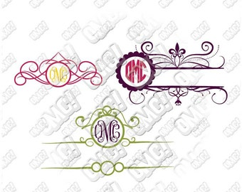 Mailbox Circle Decorative Monogram svg dxf eps jpeg format layered cutting files download clipart die cut decal cricut silhouette