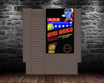 Devil World - Frantic Puzzle Platformer Adventure - NES - Unreleased Classic